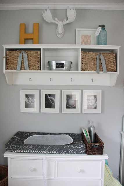 Im Loving The Changing Station Another Pinner For A Whimsical Touch To Her Son S Nursery Heather Jansen Mounts Z Gallerie Small Fauxidermy Moose Head