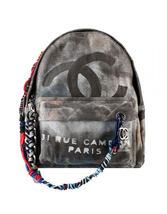 9eb0d0e8b5b Graffiti Printed Canvas Sırt Çantası   Çantalar   Chanel, Chanel ...