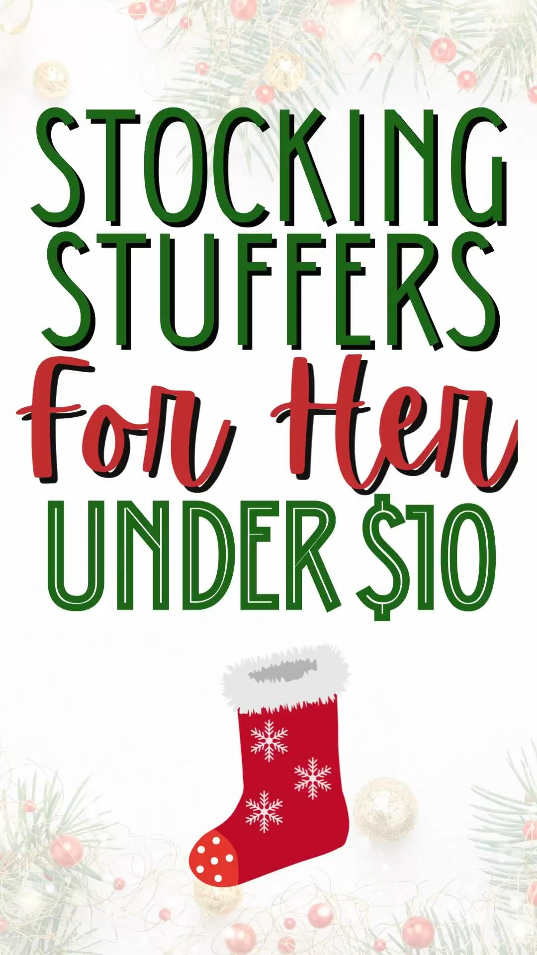 Stocking Stuffers for Her - All under $10!