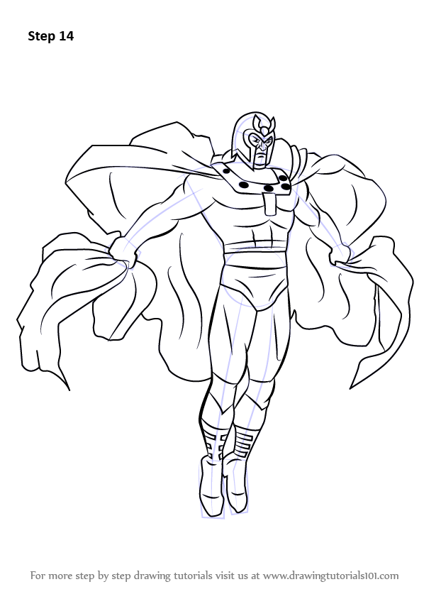 Learn How To Draw Magneto From X Men X Men Step By Step Drawing Tutorials Drawings Marvel Drawings X Men