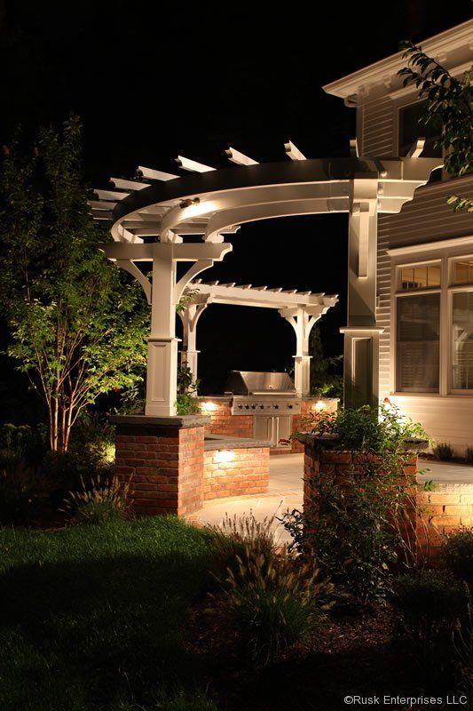 curved pergola hill landscaping arborwood pinterest. Black Bedroom Furniture Sets. Home Design Ideas