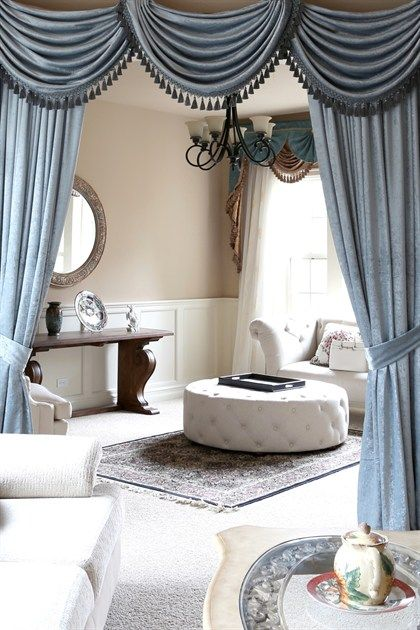 Flip Pole Swag Valance Dries, Swag Curtains For Living Room