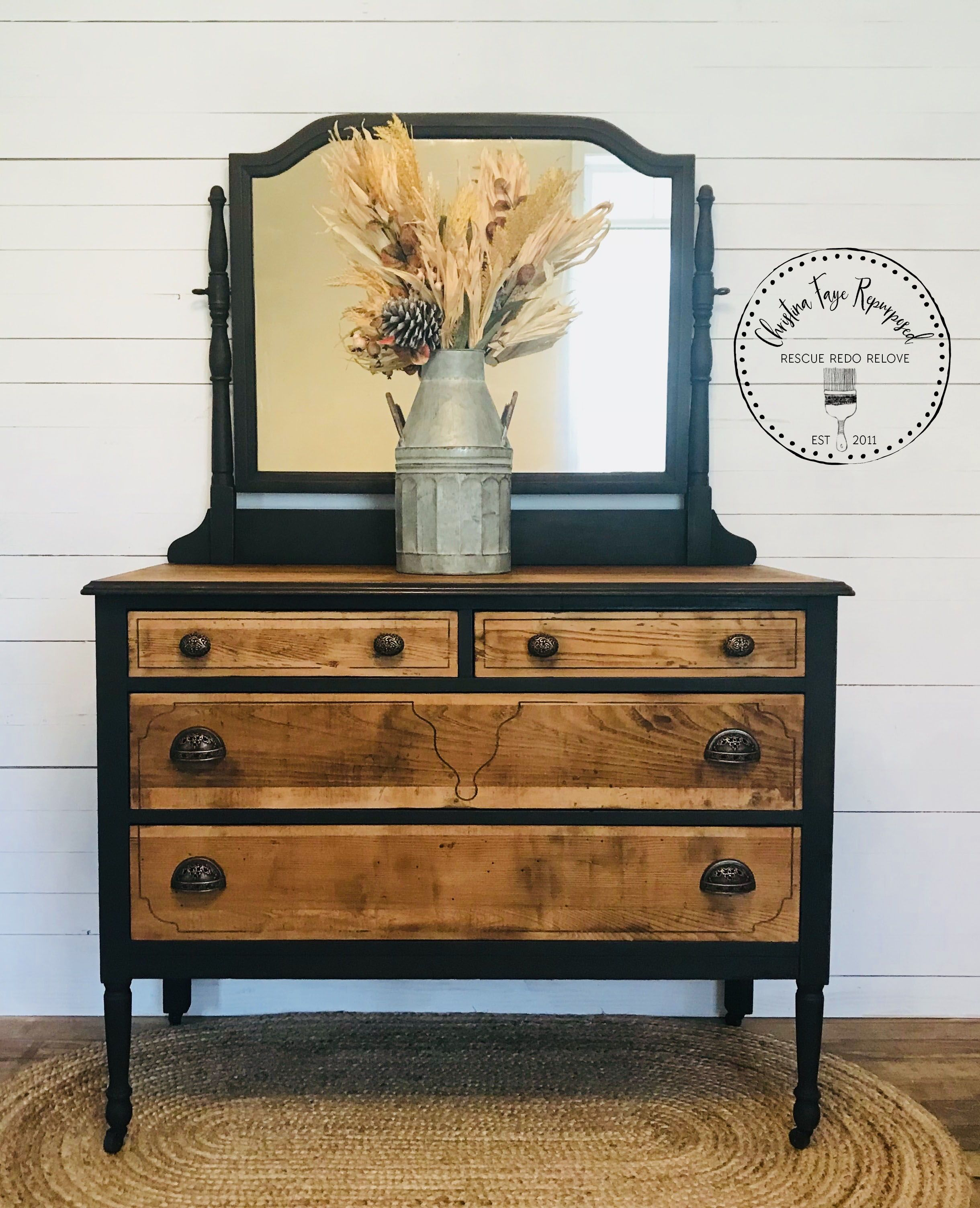 Antique Dresser Makeover Also See How I Removed Yucky Veneer On