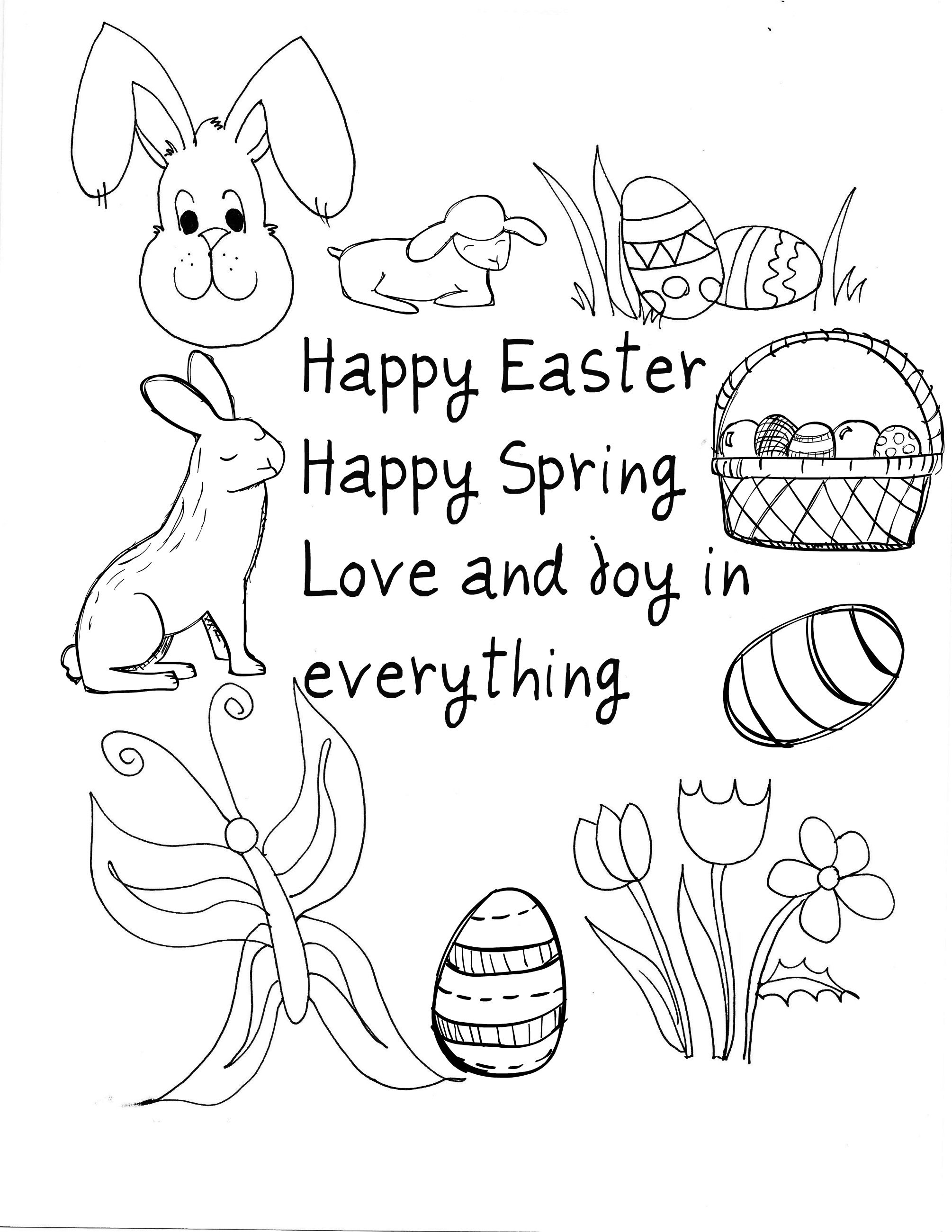 10 Easter Printable Cards To Color I Just Clicked On The Image Then Copy Spring Coloring PagesEaster