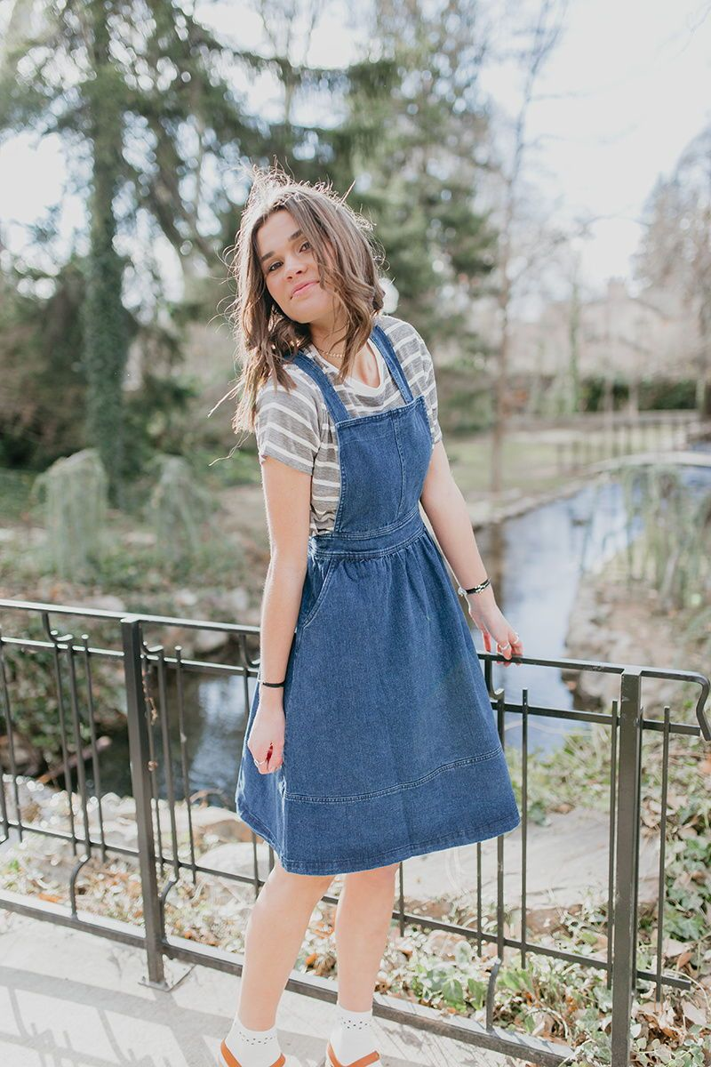 48da11a622 THE CANTERBURY DENIM OVERALL SKIRT