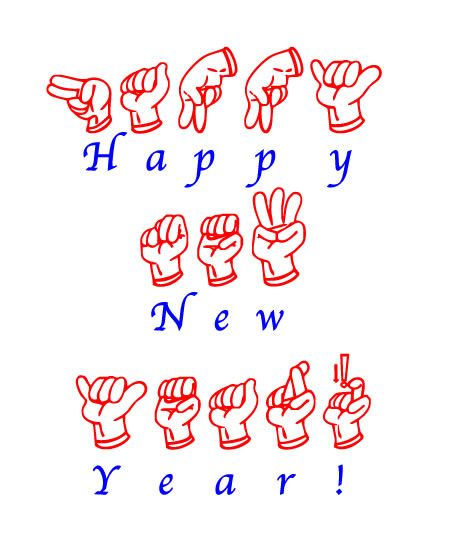 Happy New Year Learn Sign Language Sign Language Letters Sign Language Words