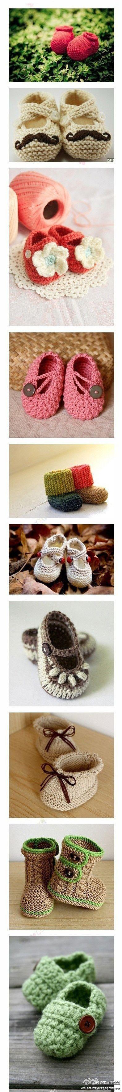 Crochet baby booties...makes me wish I new how to crochet! | DIY ...