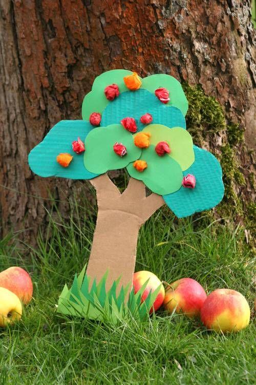 Kostenlose Apfelbaum basteln zum Basteln