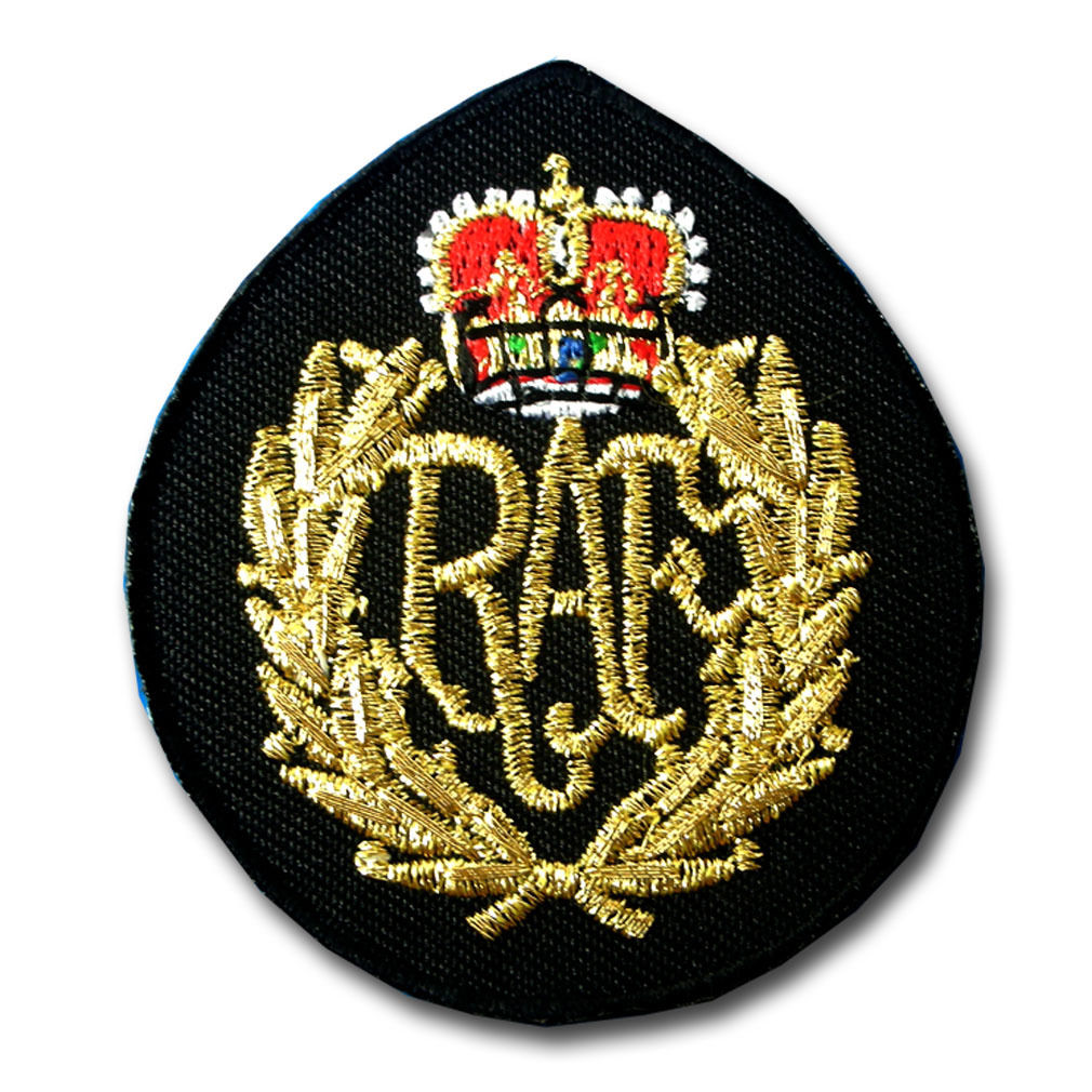 4.4 British Raf King's Crown Cap Patch Iron On Army