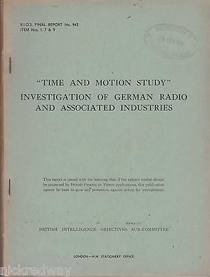 Vintage 1940\u0027s bios #report time and motion study of #german radio