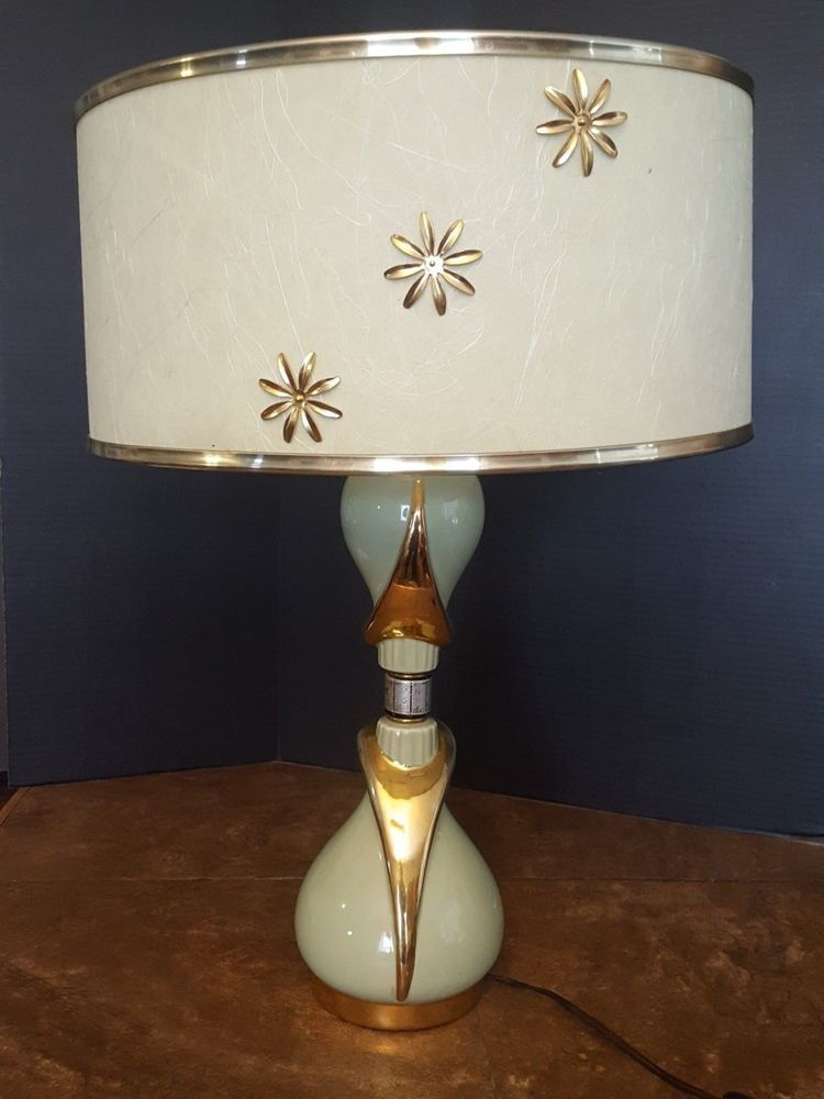 Vintage Very Rare Ge Mid Century Modern Retro 50 S Table Lamp Original Shade Vintage Table Lamp Mid Century Modern Lamps Table Lamp