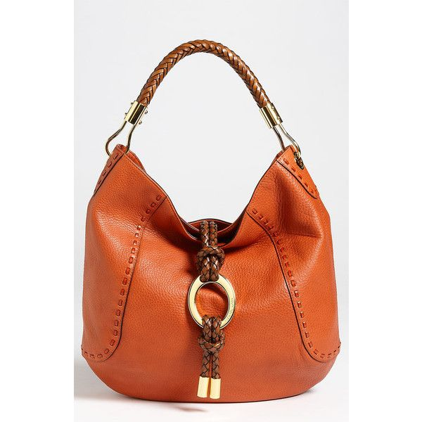 Michael Kors 'Skorpios' Calfskin Leather Hobo found on Polyvore