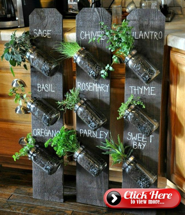 herbal kitchen shelf-ideas-einweckglaser-spice-hang #senkrechtangelegtekräutergärten
