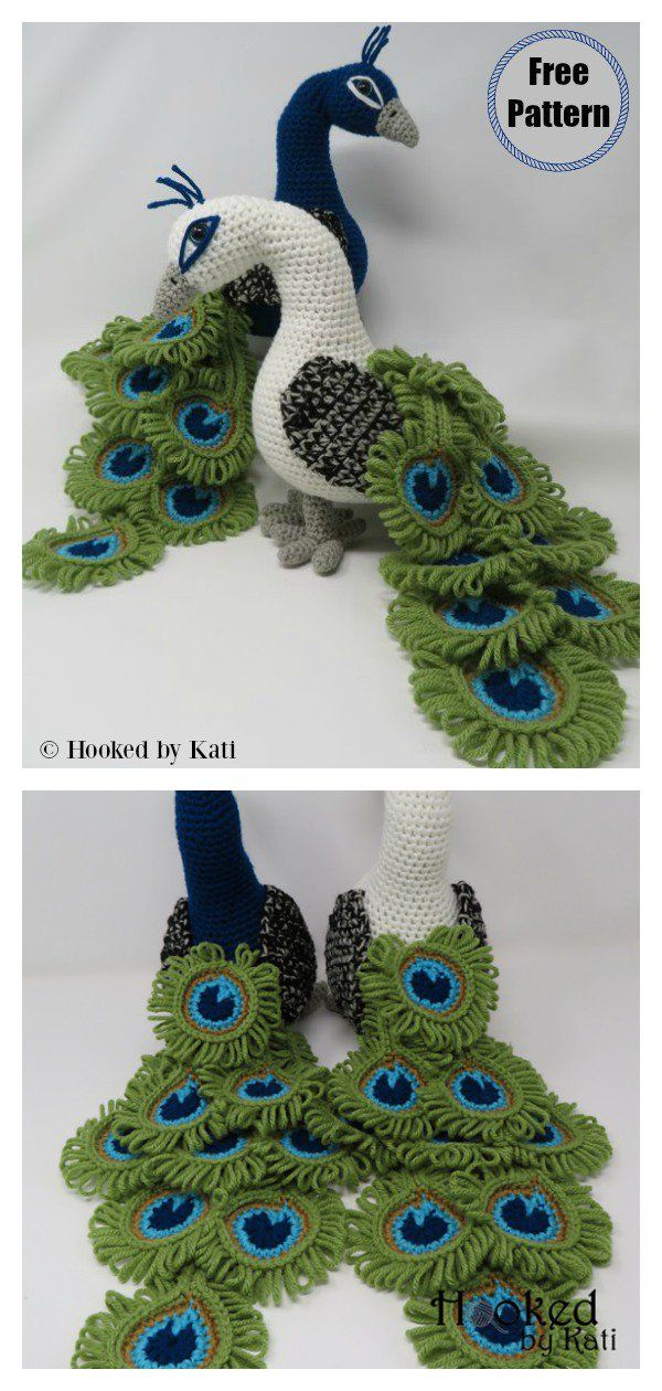 Regal the Peacock Amigurumi Free Crochet Pattern and Video Tutorial #crochet