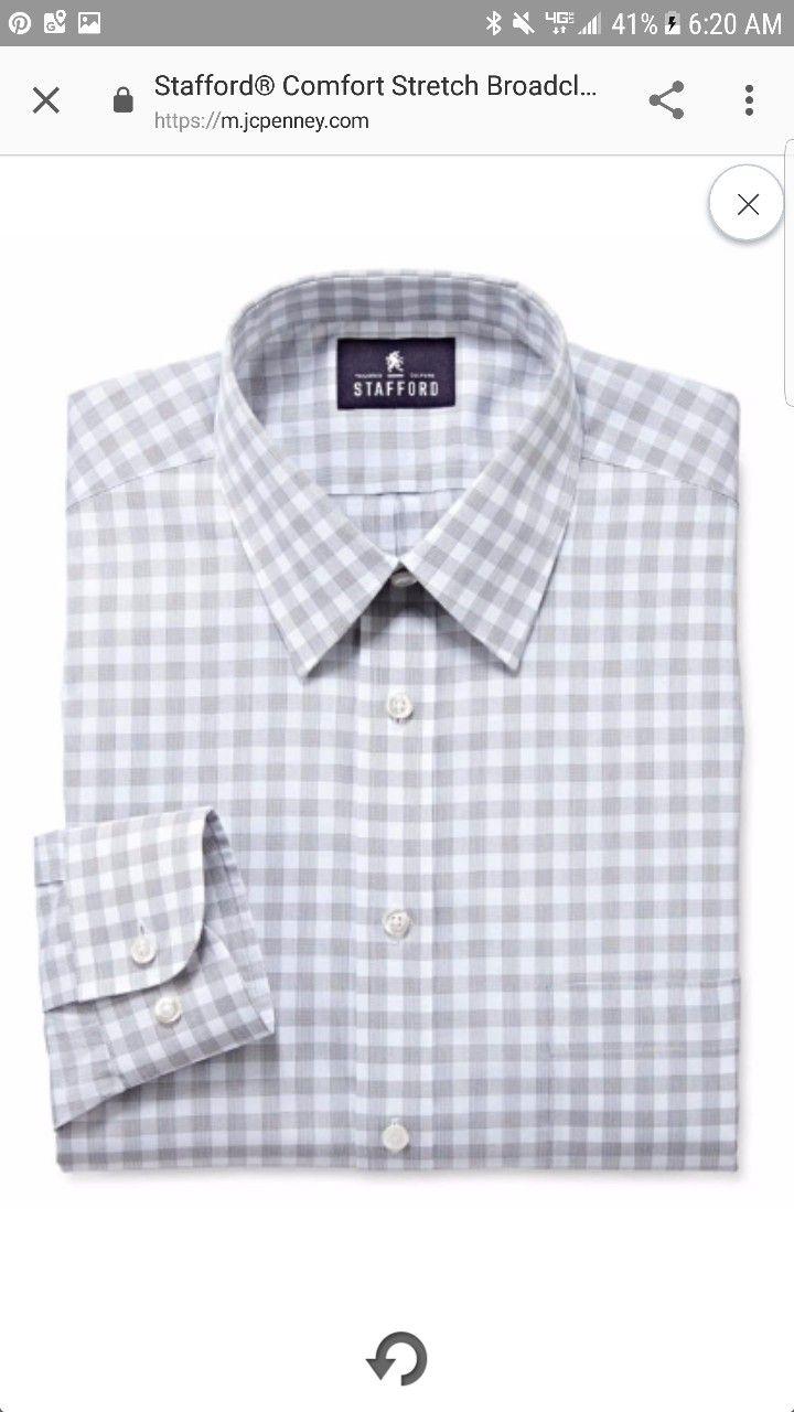 Stafford Comfort Stretch Dress Shirt Big And Tall 8 99 Jcpenny Clearance Shirt Dress Stretch Dress Shirt Shirts
