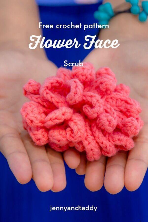 Flower Face Scrubbie