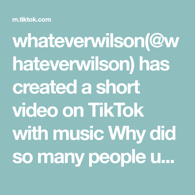 Whateverwilson Whateverwilson Has Created A Short Video On Tiktok With Music Why Did So Many People Use My Audio Pov You Re S Told You So Aesthetic Gif Pov