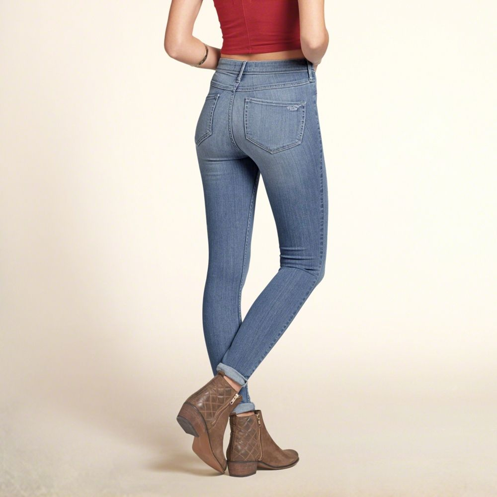 Girls Hollister Flawless Stretch High Rise Super Skinny Jeans | Girls  Dreamworthy Jeans | HollisterCo.