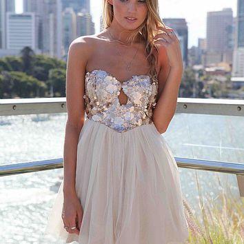 JUST FEEL IT DRESS , DRESSES, TOPS, BOTTOMS, JACKETS & JUMPERS, ACCESSORIES, 50% OFF SALE, PRE ORDER, NEW ARRIVALS, PLAYSUIT, GIFT VOUCHER,,Sequin,Gold Australia, Queensland, Brisbane