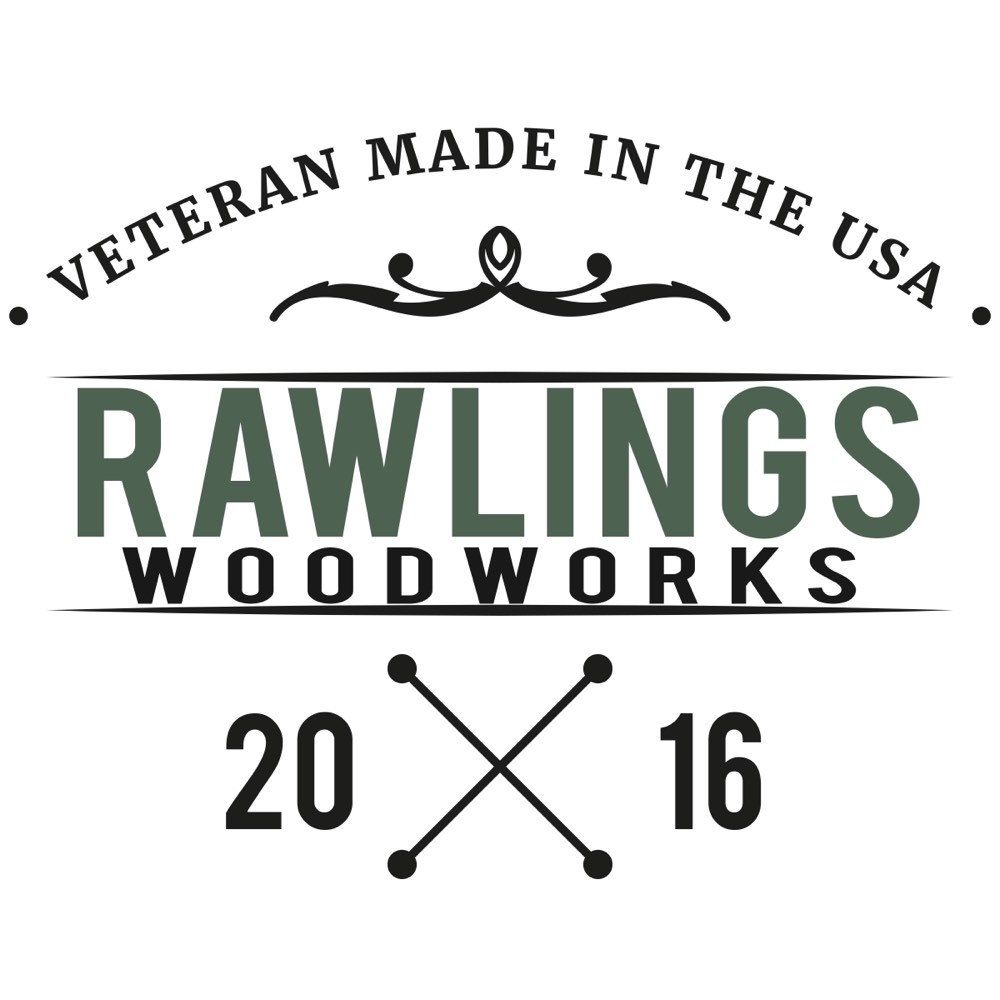 Hand-crafted wooden furniture proudly made in the USA by an American Veteran.  #rawlingswoodworks