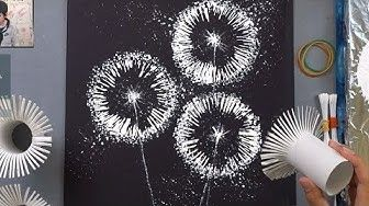 (37) Toilet Paper Rolls Dandelion Painting Technique for Beginners ♡ Maremi's Small Art ♡ - YouTube #toiletpaperrolldecor