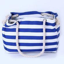 Especial big Stripe bolsas de ombro saco de compras saco de praia bolsa de lona…