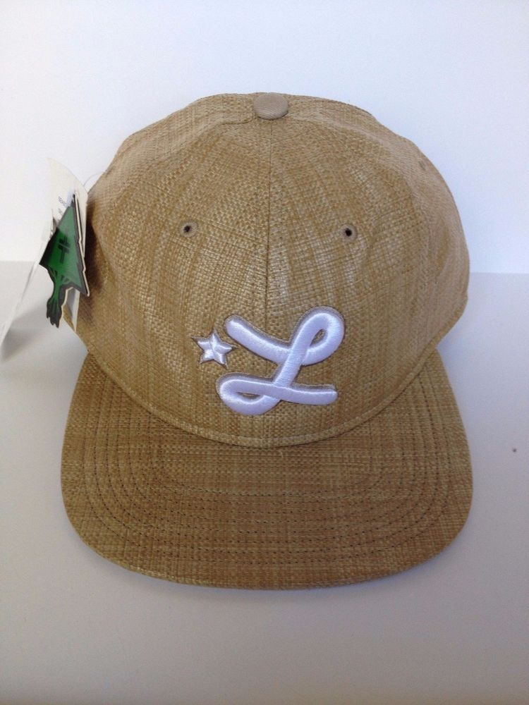44b005c2b75 NEW LIFTED RESEARCH GROUP LRG SNAPBACK HAT CAP BROWN STRAW FLAT BRIM BILL  ADJUST  LiftedResearchGroup