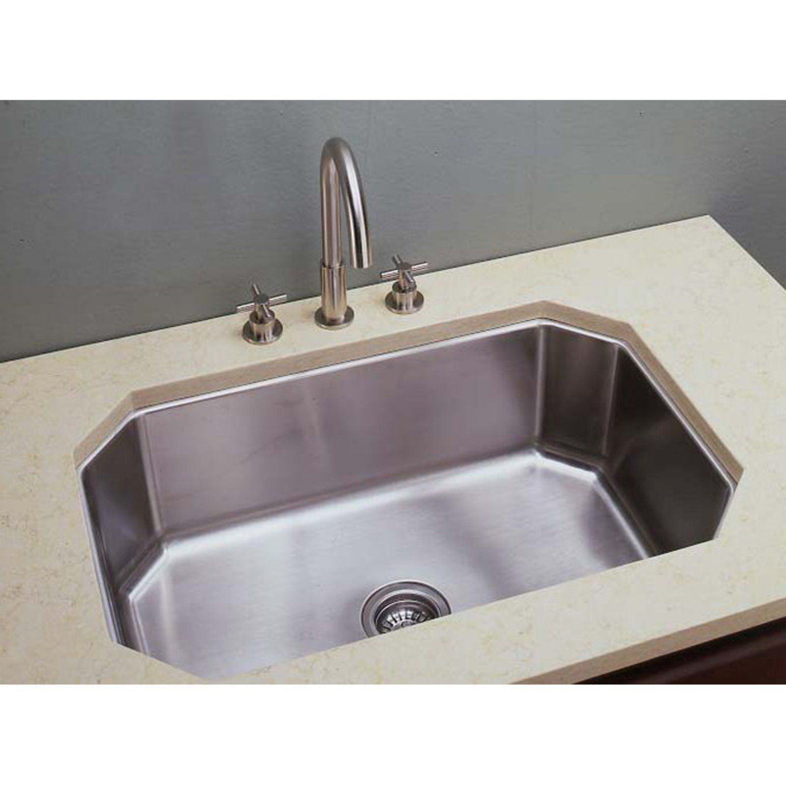 Empire Industries S 17 Single Bowl Undermount Stainless Steel