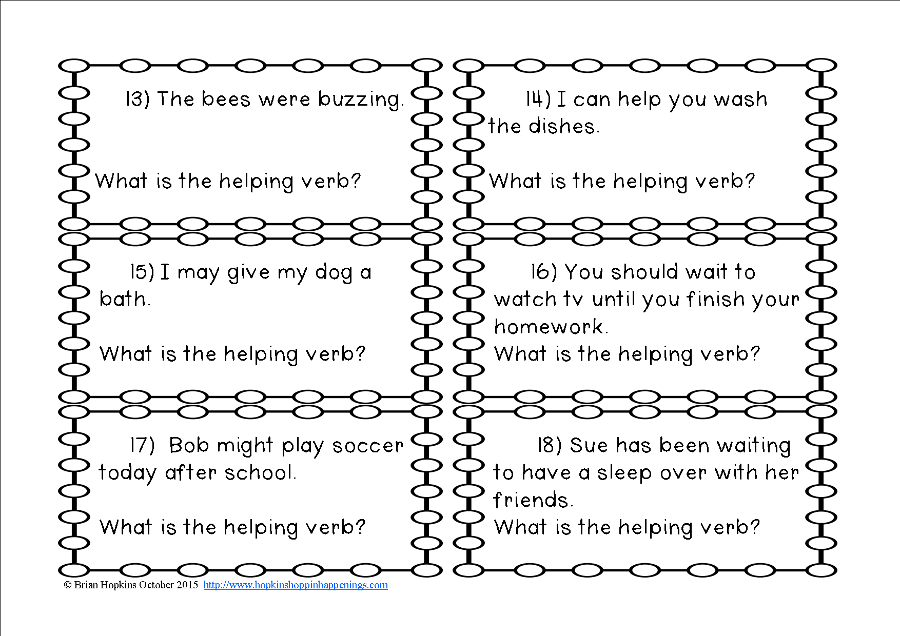 Helping Verbs Task Cards Are Perfect For A Writing Center Or Station To Play The Game Scoot For Early Finishers Linking Verbs Verb Task Cards Helping Verbs [ 1240 x 1754 Pixel ]