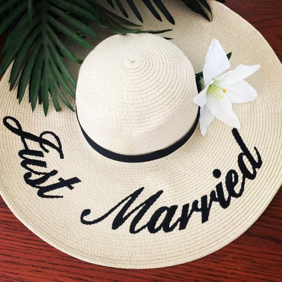 3a361a02 Custom Saying Embroidered Floppy Hat- Wide Brim Beach Sun Hat- Personalized