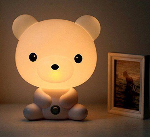 Lampade a LED per bambini, da parete e da tavolo, a risparmio energetico, a forma di animaletto moderno Orsetto - Très Chic Mailanda