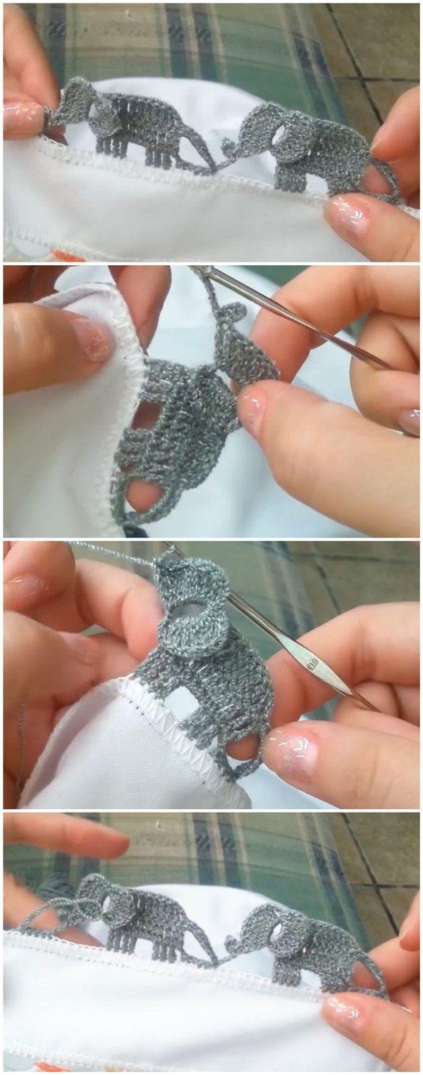 Crochet Elephant Edging Video Tutorial Haken En Breien