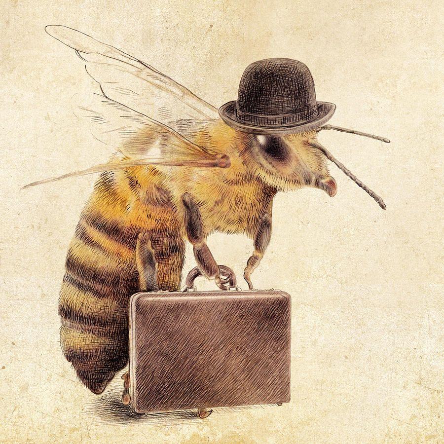 Worker Bee Eric Fan Illustrations Pinteres