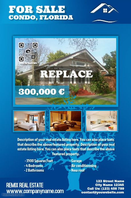 Blue Glossy Real Estate Poster On Postermywall Real Estate Flyers Real Estate Estates