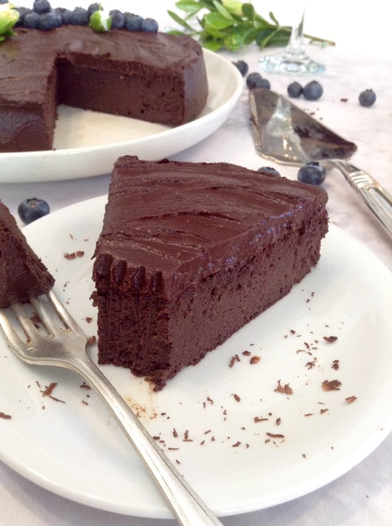 Bolo De Chocolate Sem Farinha E Sem Acucar Com Cobertura De Mousse