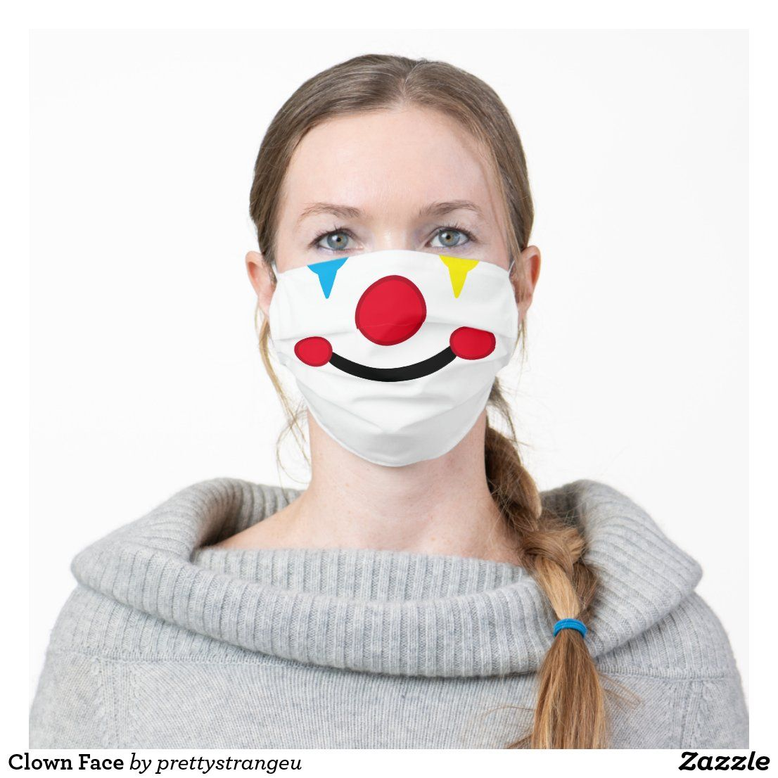 Clown Face Cloth Face Mask in 2020 Clown