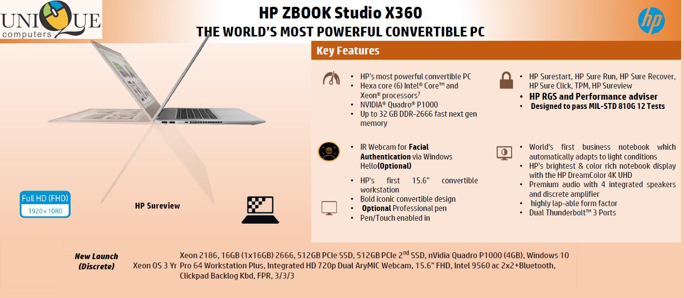 Hp Zbook Studio X360 5ul54pa Z Book Hp Products Nvidia
