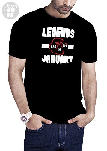 943c516b Cali Dreamers Men's Legends Are Born In January birthday t-shirt black -  Birthday shirts (*Amazon Partner-Link)