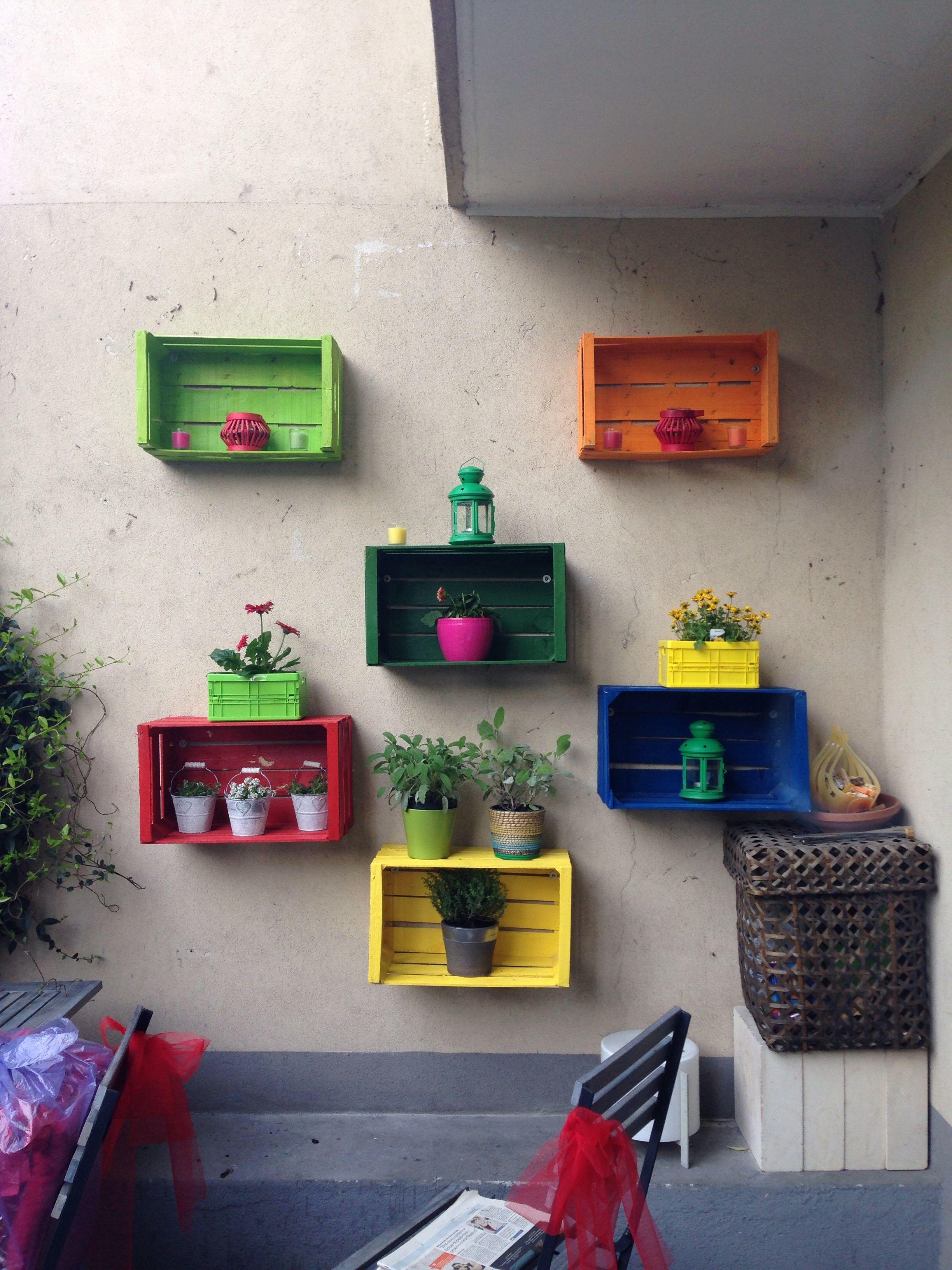 Cajas jardineras ideas pinterest decoraci n hogar - Como decorar cajas de madera de fruta ...