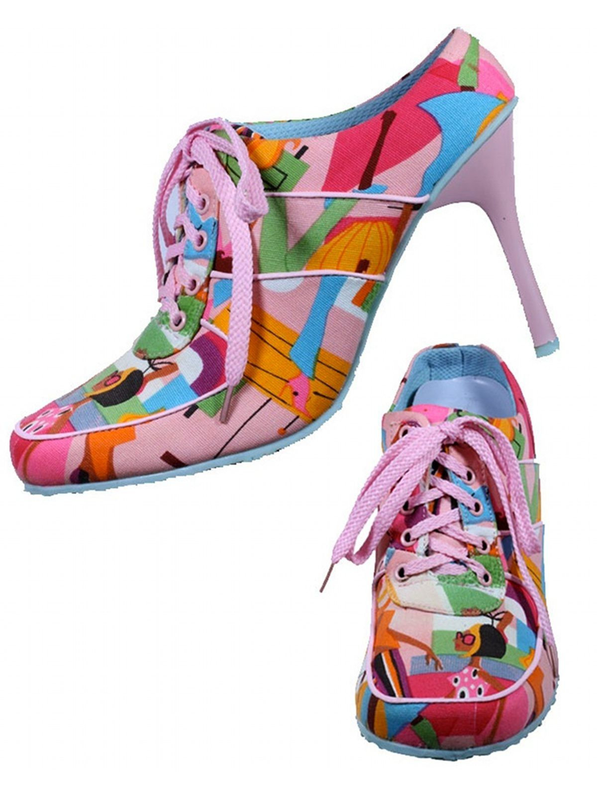 Shoes: -Fuel- Womens pink, brown, turquoise white, yellow and ...