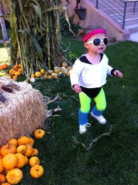 80's Aerobics baby costume