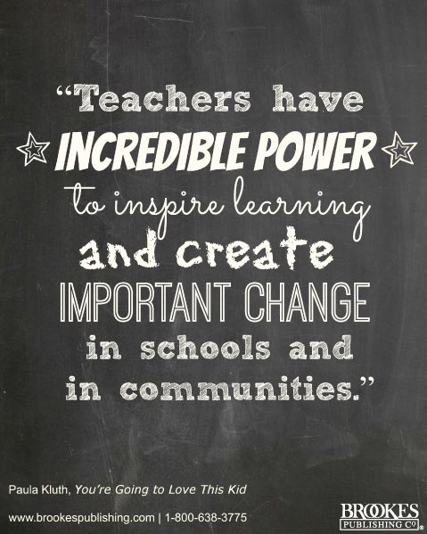 the power of teachers | Quotes We Love | Classroom, Inclusive