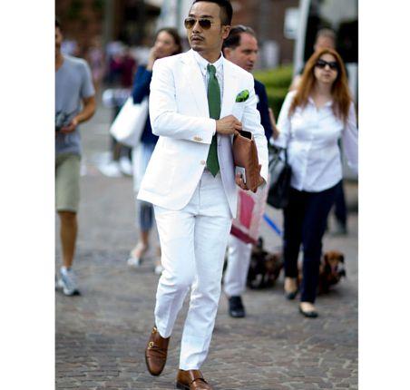 Moda Meska Na Men S Fashion Week Wiosna Lato 2016 Florencja Fashyou Pl White Outfit For Men Mens White Suit Mens Outfits