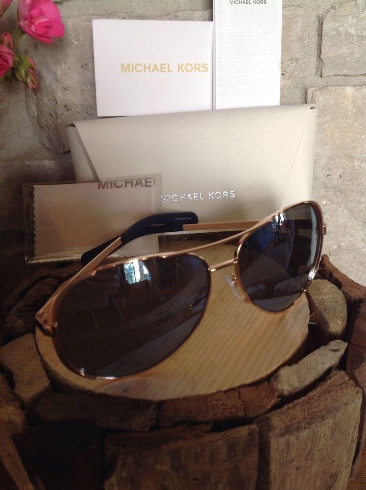 MICHAEL KORS Chelsea Blue Mirror Rose Gold Frame POLARIZED ...