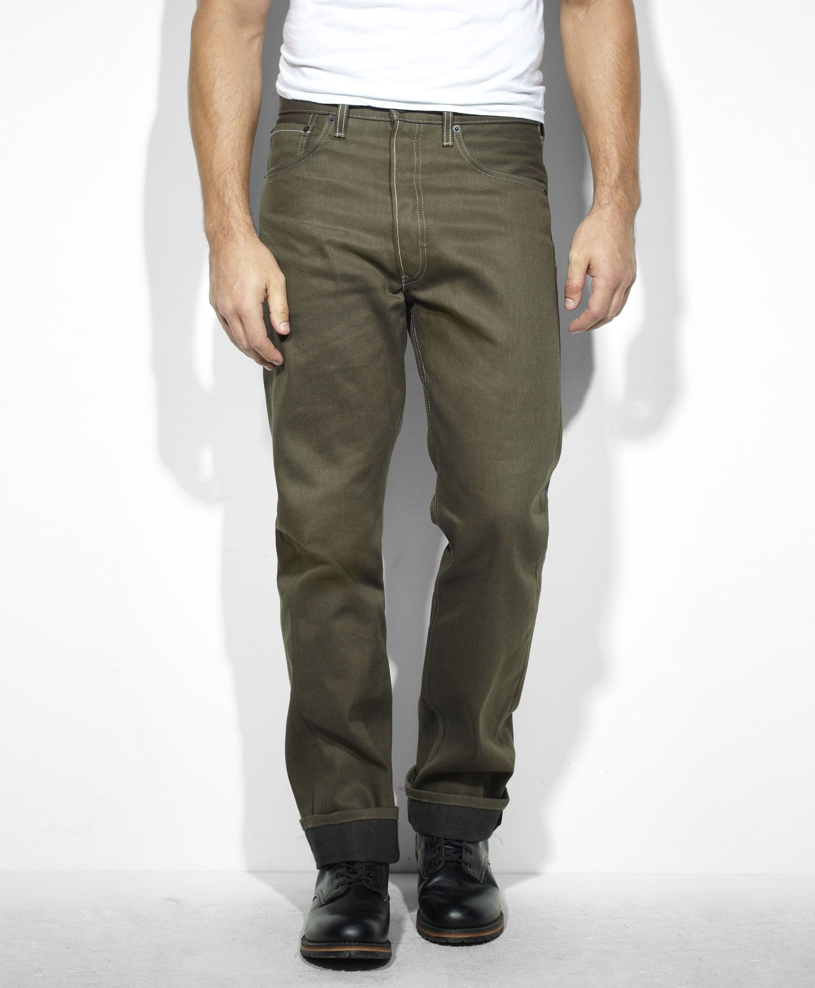 56f6e7271d4 Levis 501 Dark Green finish Levis Jeans, Jeans Fit, Jeans Pants, Khaki Pants