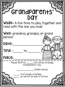 Grandparents Day: Banners, Cards, Bingo Games, Kid Book, & More #grandparentsdaycrafts