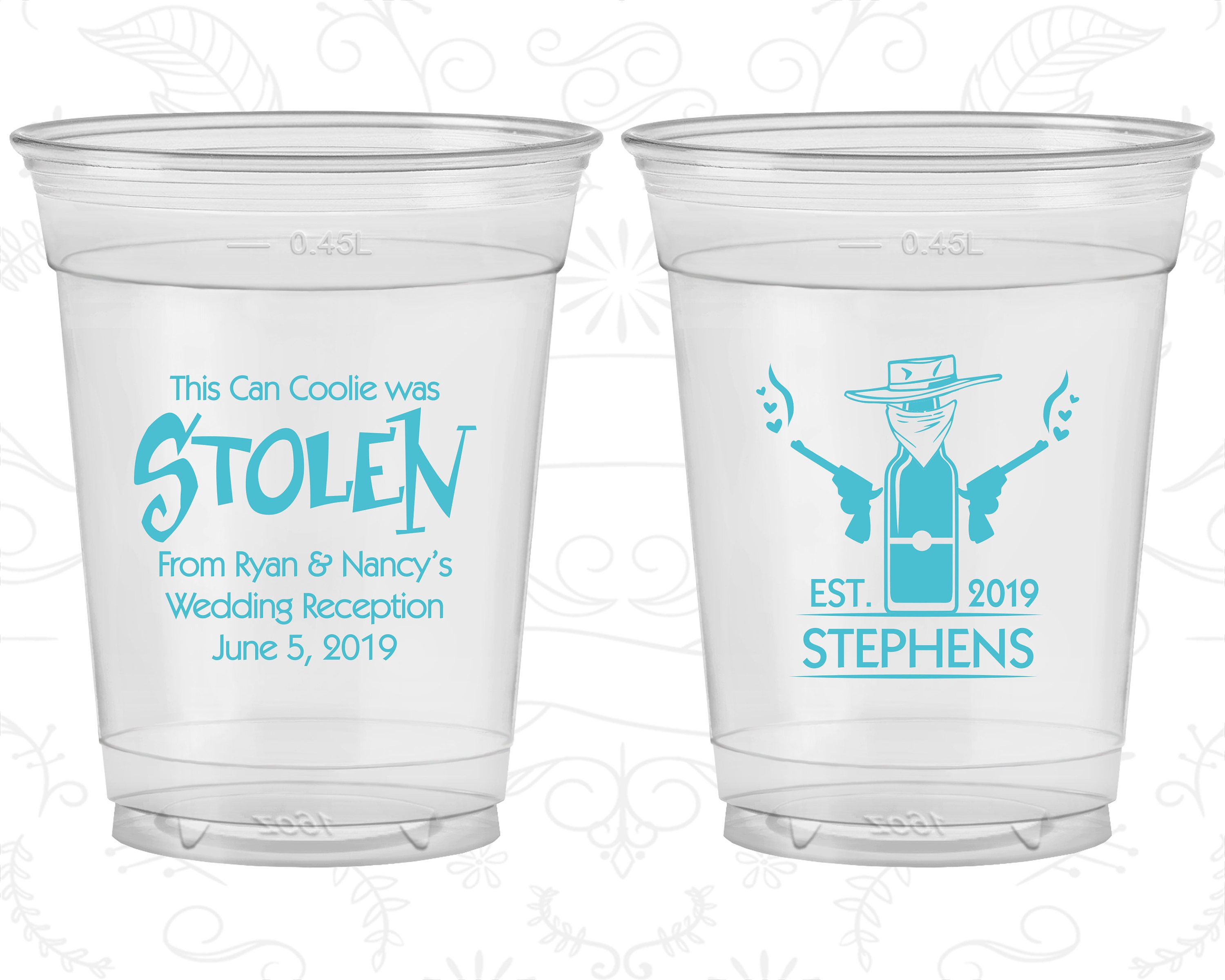 Stolen From Cheap Clear Plastic Cups Stolen From Wedding Cowboy Wedding Country Wedding Soft Plastic Cups 581 Disposable Cups Soft Plastic Destination Wedding
