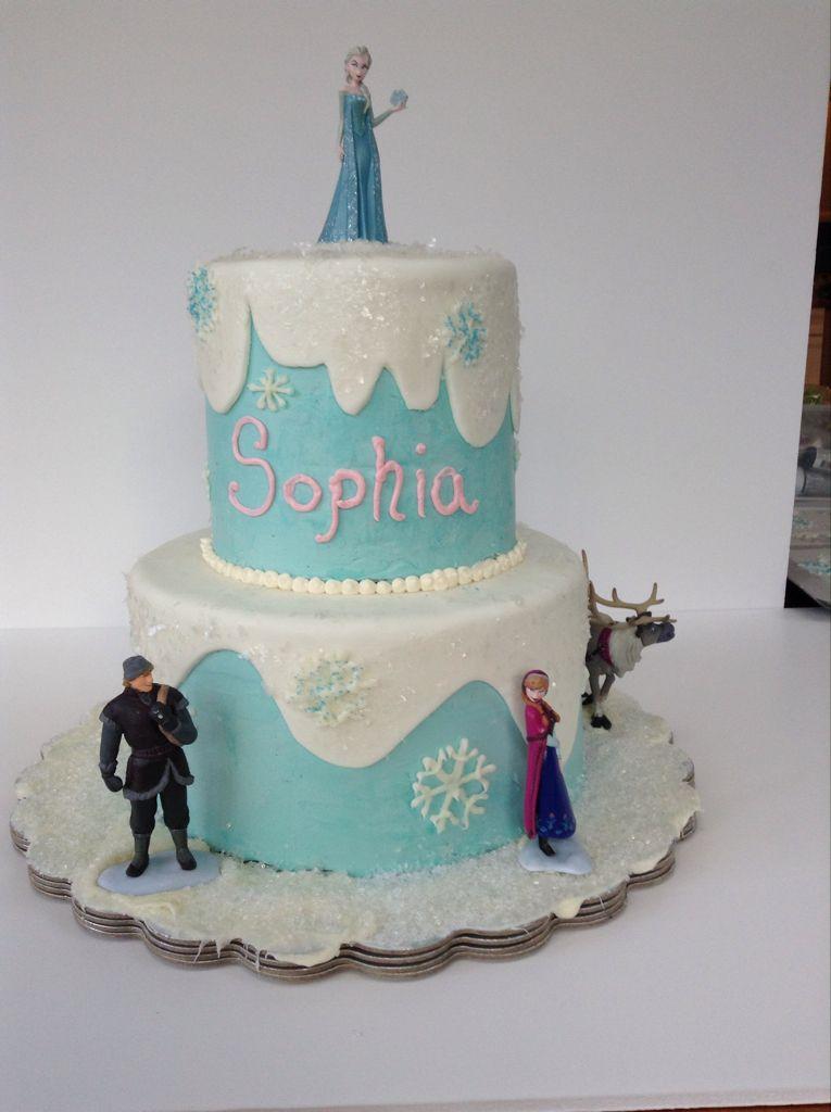 Disneys Frozen Cake Class Clean Simple Cake Design Baking