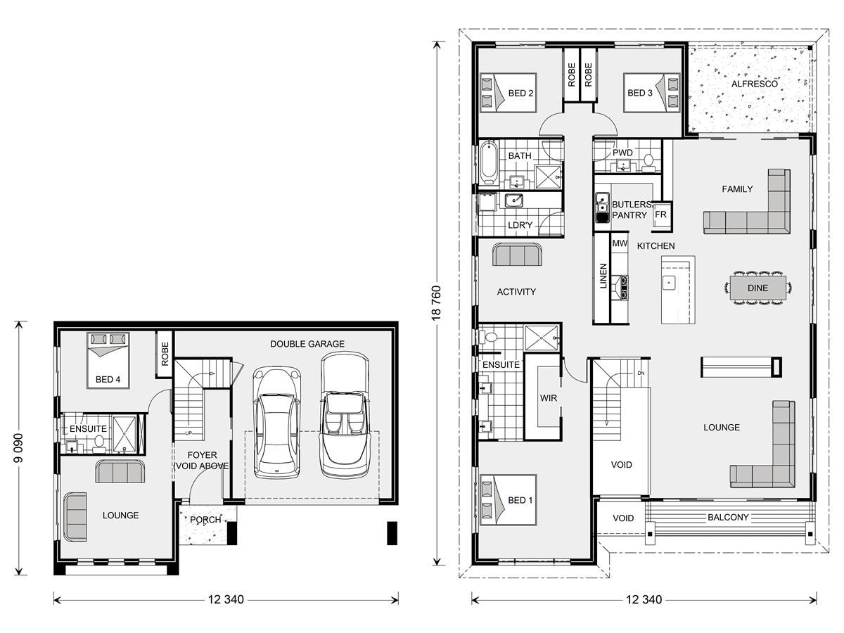 Stamford 317 split level home designs in sydney north brookvale bedroom floor planshome