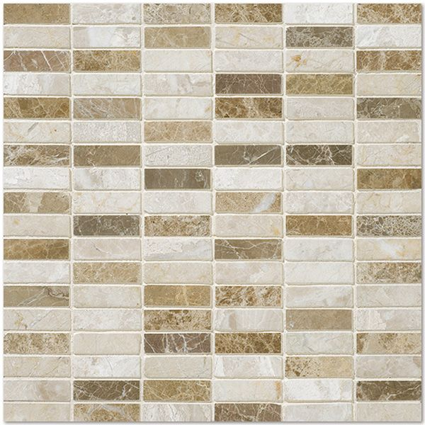 Afyon Sugar Harmony Polished Collection Milano Blend Polished 12x12 5 8x2 Marble Mosaics
